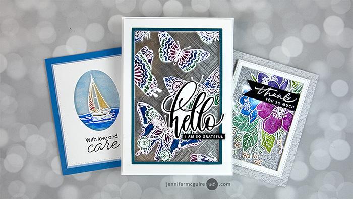 0621 Sparkled Glass Card Video by Jennifer McGuire Ink