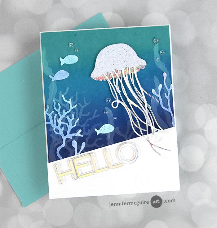 94574 Graceful Jellyfish craft die