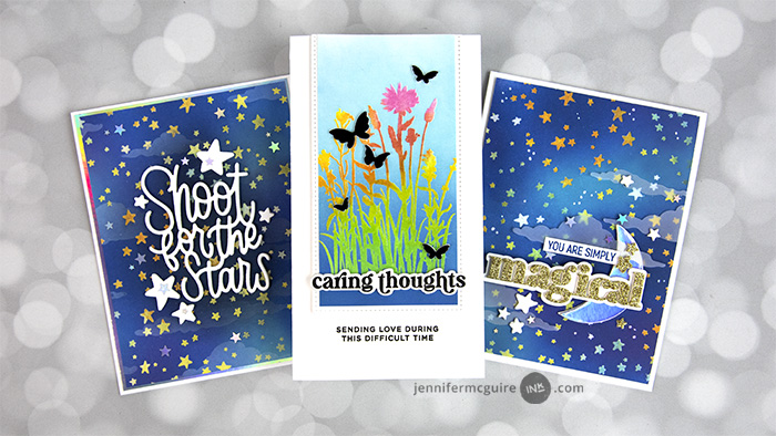 Starry Skies Card Video by Jennifer McGuire Ink