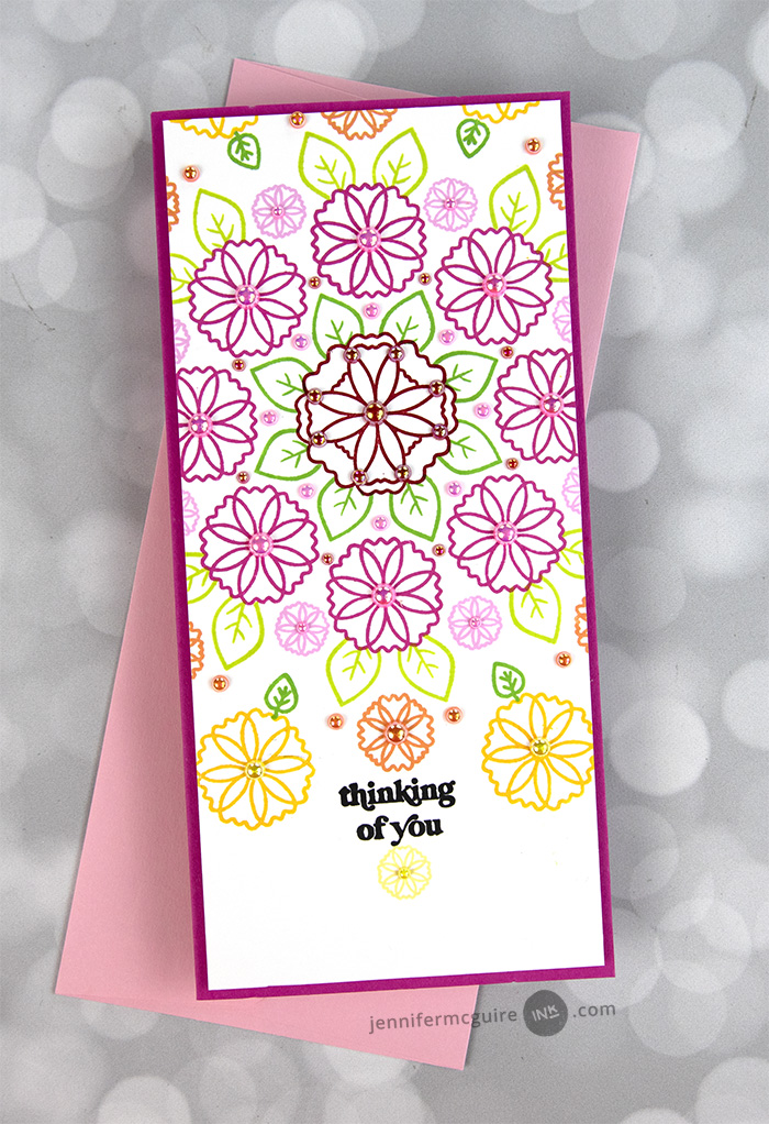 Flower Turnabout Card Video by Jennifer McGuire Ink