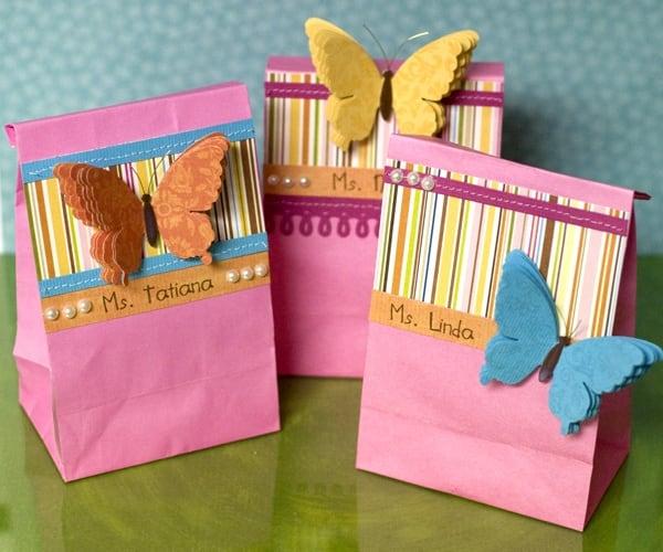 Самодельные подарочные бумажные пакетики для