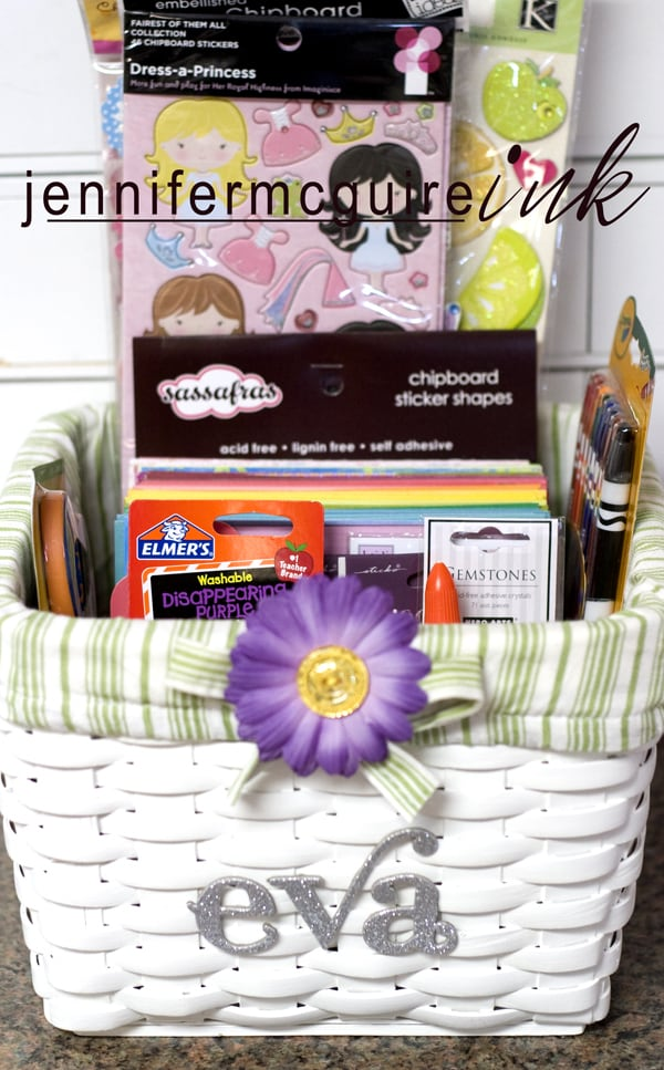 Gift Basket Making Materials : Birthday gift meets scrapbooking goodies jennifer