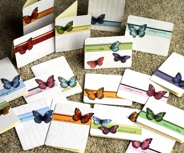 123109 Butterfly Cards